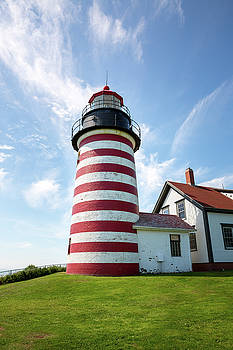 West Quoddy Head Light by Robert Clifford