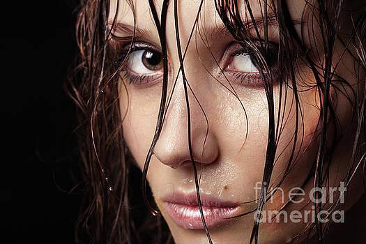 Wet Hair Portrait by Aleksey Tugolukov
