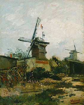 Windmills on Montmartre by Vincent van Gogh