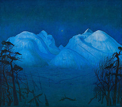 Winter Night In The Mountains by Harald Sohlberg