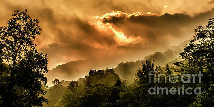Misty Mountain Sunrise by Thomas R Fletcher