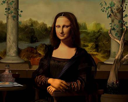3d Mona Lisa by Giora Eshkol