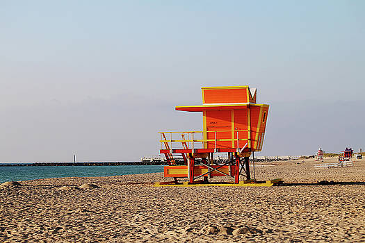 3rd Street Lifeguard Tower - Miami Beach by Art Block Collections