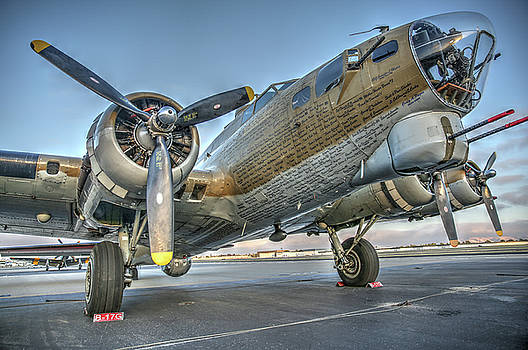 John King - B17 Flying Fortress on the Ramp at Livermore