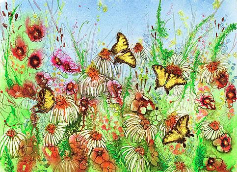 4 Butterflies 22X30 by Shirley Sykes Bracken
