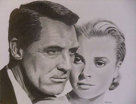Cary Grant and Grace Kelly by Mike OConnell