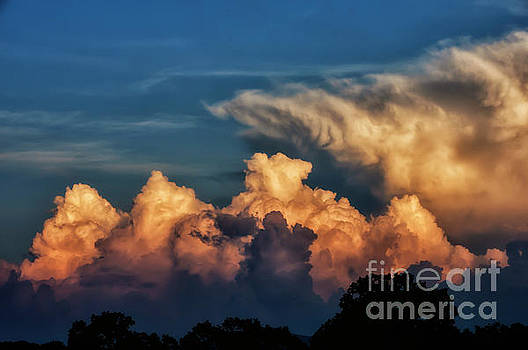 Clouds at Sunset by Thomas R Fletcher