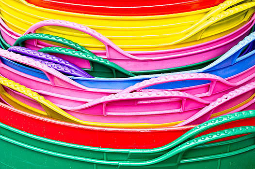 Colorful plastic by Tom Gowanlock