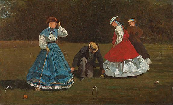 Winslow Homer - Croquet Scene