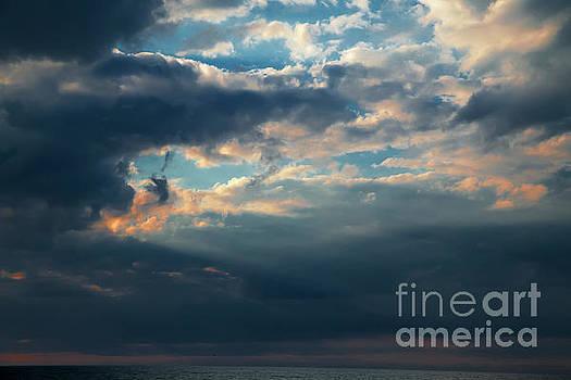 Dramatic Red Sunset by Aleksey Tugolukov