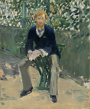 George Moore In The Artist's Garden by Edouard Manet