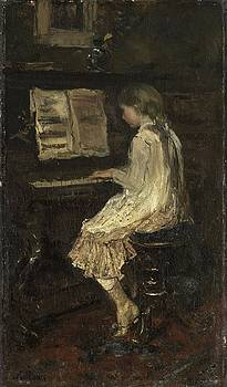 Girl at the Piano by Jacob Maris