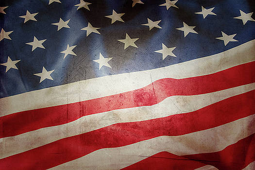 Grunge American flag 5 by Les Cunliffe