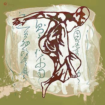 Hip Hop Street Dancing  Pop Art Poster  -  6 by Kim Wang