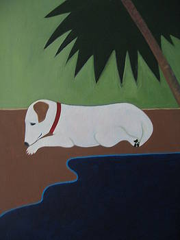 Jack Russell at the Beach by Sandra McHugh