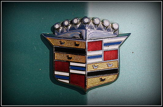 Vintage Cadillac Emblem by Laurie Perry