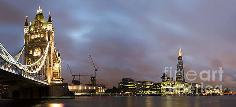 London Tower bridge on sunset by Deyan Georgiev
