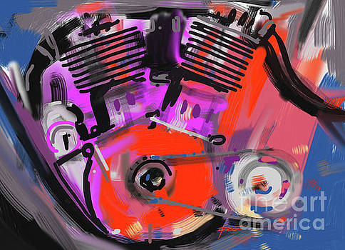 Motorcycle Engine by Peter Fogg