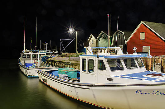 Nighttime on the wharf. by Rob Huntley