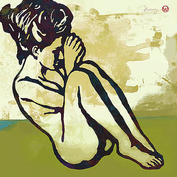 Nude - Pop art etching poster  by Kim Wang