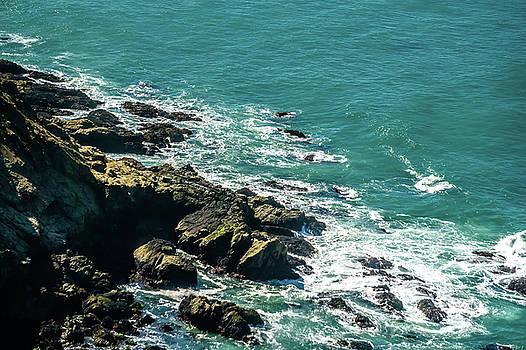 Pacific Ocean Coastal Cliff Scenes by Alex Grichenko