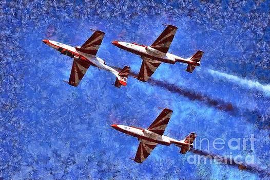 George Atsametakis - Painting of ISKRA Polish Air Force Team