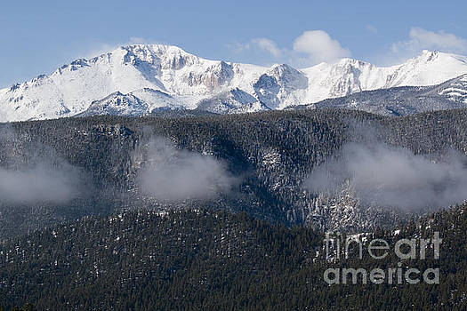 Steve Krull - Pikes Peak and Clouds After Snowstorm