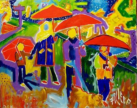 4 Red Umbrella by Nick Piliero