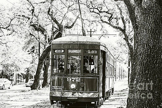 Scott Pellegrin - St. Charles Streetcar - sepia toned