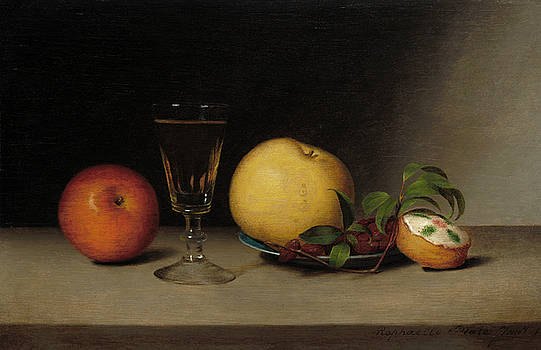 Raphaelle Peale - Still Life With Apples Sherry and Tea Cake