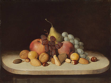 Robert Seldon Duncanson - Still Life with Fruit and Nuts