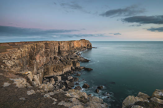 Stunning landscape image of cliffs around St Govan's Head on Pem by Matthew Gibson