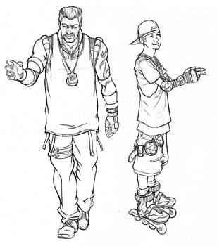 Thug Sketches by Chris Martinetti