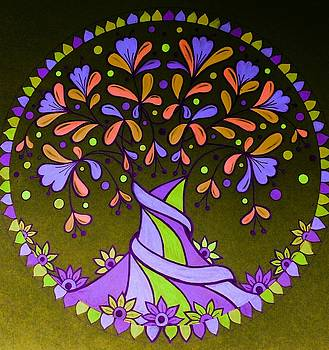 Violet tree9 by Jilly Curtis