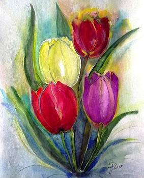 4 Tulips by Hedwig Pen
