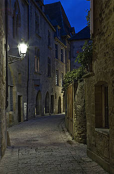 Twilight at the medieval city of Sarlat France by Kamala Saraswathi