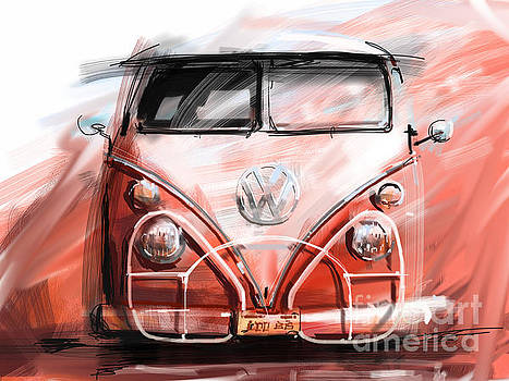 VW bus by Peter Fogg