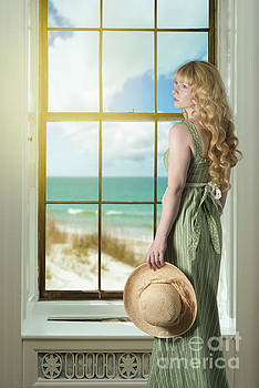 Woman At The Window by Amanda Elwell