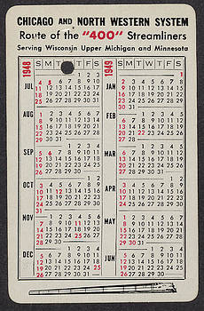 Chicago and North Western Historical Society - 400 Line of Streamliners Centennial Anniversary Calendar