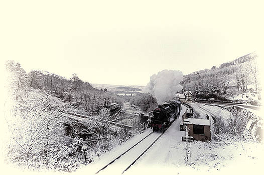 44806 at Berwyn station in the snow by Andrew Munro
