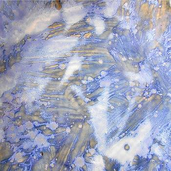 46. v2 Blue and White Organic Abstract by Maggie Minor