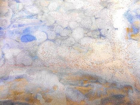 47. Blue, White and Orange Organic Abstract by Maggie Minor