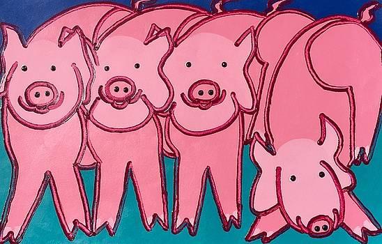 4Pink Pigs by Matthew Brzostoski