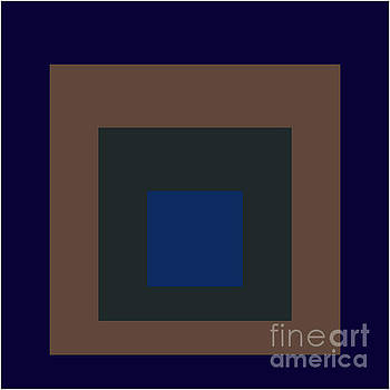 4Squares Blue Brown by Peter  Schoenbohm