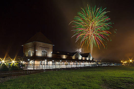 4th of July at the Bristol Train Station by Greg Booher