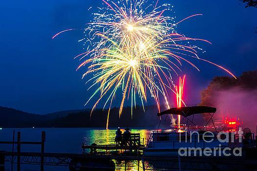 4th Of July Finger Lakes Fireworks by John Baumgartner