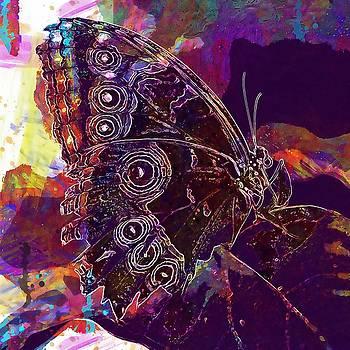 Butterfly Macro Pose Plant Green  by PixBreak Art