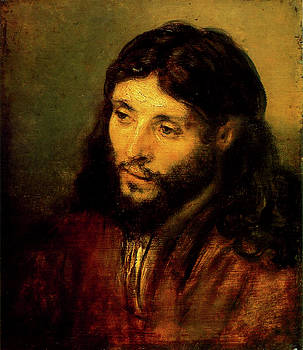Head Of Christ by Troy Caperton