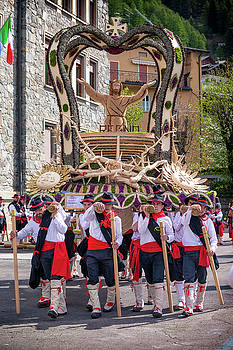ITALY BORMIO APRIL 16 2017 Celebration of Pasquali by Alfio Finocchiaro