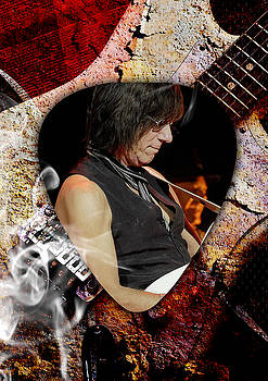 Jeff Beck Guitarist Art by Marvin Blaine